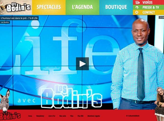 Webdesign du site les Bodin's