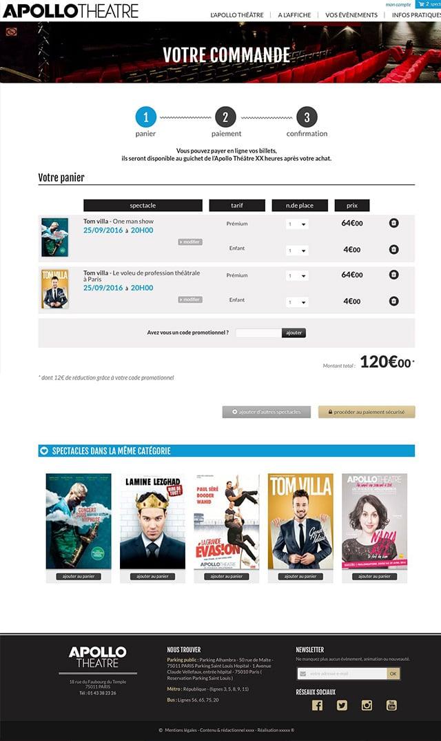 Webdesign théâtre