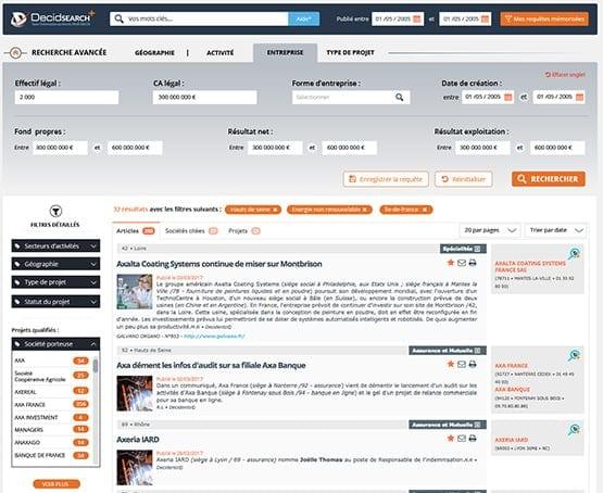 UX design du module de recherche