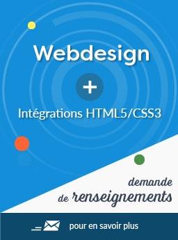 Webdesign + intégration HTML